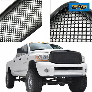 2006 2008 Dodge Ram 1500 Mesh Grille Grill Abs Carbon Fiber Look Front Hood