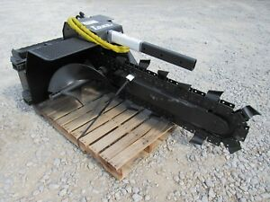 Bobcat Skid Steer Loader Attachment Lowe Xr 14 36 By 6 Trencher Ship 199