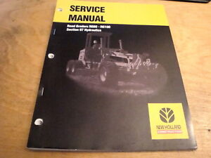 New Holland Rg80 Rg100 Road Grader Hydraulics Service Repair Shop Manual