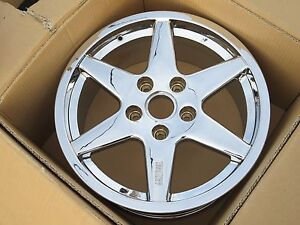 1 Front 18 Techart Formula Chrome Porsche Wheel Rim 8x18 Et42 911