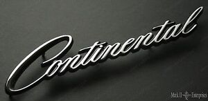 1964 66 Lincoln Continental Quarter Nameplate Script New C4vy 5325622 Free Ship