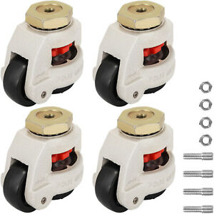 Gd 80s Set Of 4 Leveling Casters Carbon Steel Footmaster Caster Brand New