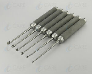 Cobb Spinal Bone Currette Set Of 6 Pieces 11 Care Orthopedic Instruments