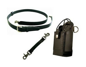 Boston Leather Firefighter s Radio Strap Complete Set up Universal