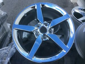 Corvette Wheels 18 19 Oe Gm Factory Original Chrome Wheels Fits 2005 18