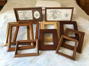Lot Of Wooden Picture Frames