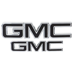 Oem New Grille And Tailgate Gmc Emblems Black W chrome 18 19 Terrain 84416280