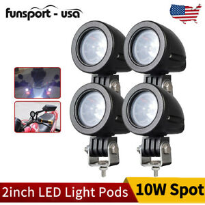 4pcs Pods Led Work Light Spot Lights For Truck Off Road Tractor 12v 24v Oval