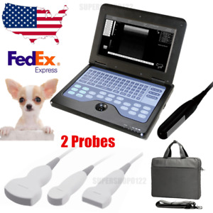Vet Veterinary Portable Ultrasound Scanner 2 Probes Big small Animals Usa Fedex