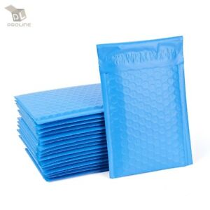 250 0 Blue Poly Bubble Mailers Envelopes Bags 6 5x10 Extra Wide Cd Dvd