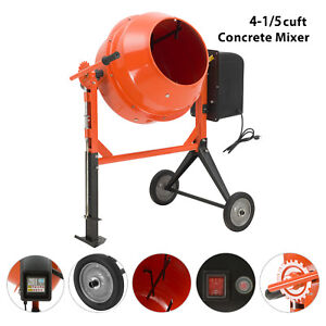 4 1 5cuft Portable Electric Concrete Cement Mixer Barrow Machine Mixing Mortar