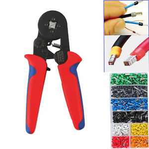 Crimp Tool Kit Crimper Plier Wire Terminal 175mm Ferrule Terminal Wire Connector