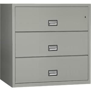 Lateral 44 Inch 3 drawer Fireproof File Cabinet