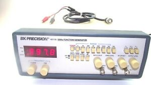 B k Precision Model 4011a Function Generator 5 Mhz With Clips