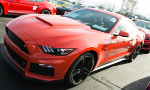 2015 2017 Ford Mustang Roush Abs Hood Scoop Custom Painted Competition Orange Cy