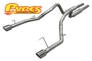 2005 2010 Ford Mustang Gt Stainless Steel Mid muffler Exhaust System With Tips