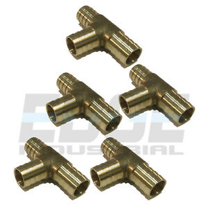 10 Pack 3 4 Hose Barb Tee Brass Pipe 3 Way T Fitting Thread Gas Fuel Water Air