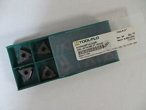 10 New Tool flo 22el 6stacme Pt Ac22r Carbide Inserts 5146406ptac22r Toolflo