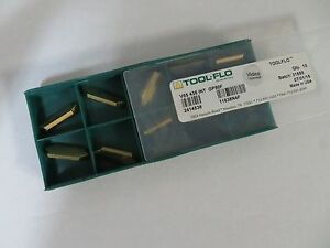 10 New Tool flo V85 435 Int Gp50f 08 Carbide Inserts 11638n4f Toolflo