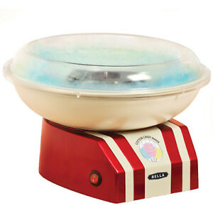 Nostalgia Electric Hard Cotton Candy Maker Red With Backlit Power Switch Bella