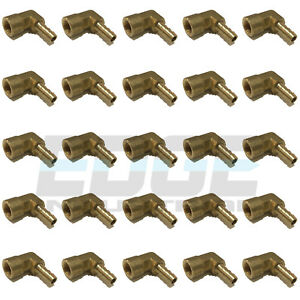 25 Pack 1 4 Hose Barb Elbow X 1 8 Female Npt Brass Pipe Fitting Wog