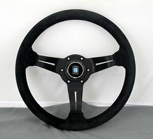 Nardi Steering Wheel Deep Dish Corn 330 Mm Black Suede Leather Type A Horn