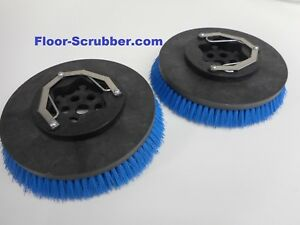 Set 2 Tennant Nobles Replaces 399247 Ss5 T5 14 Floor Scrubber Poly Brushes