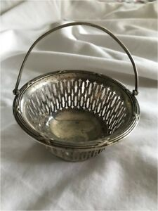 Wallace Sterling Silver Mini Basket C1451 Used Old Antique Needs Repair