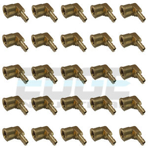 25 Pack 1 4 Hose Barb Elbow X 1 4 Female Npt Brass Pipe Fitting Wog