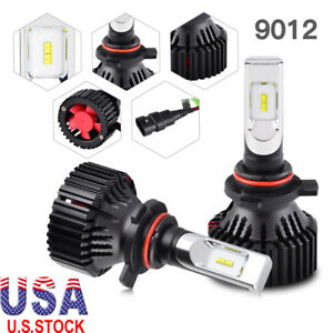 9012 Hir2 Zes Led Headlight Bulb Conversion Kit 16000lm 6000k White 60w Bright