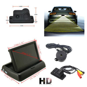 4 3 tft Lcd Display Monitor car Reverse Backup Hd Camera With Radar Alarm System