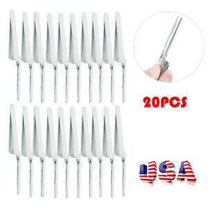 1 20pcs Dental Articulating Paper Holder Straight Forceps Tweezers Surgical Tool