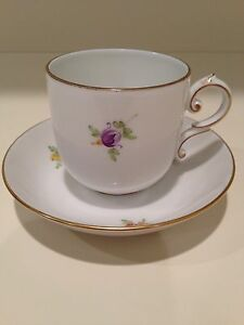 Hochst Hand Painted Porcelain Butterflies Flowers Cup Saucer 4 Made Germany