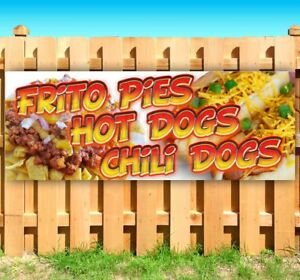 Frito Pies Hot Chili Dogs Advertising Vinyl Banner Flag Sign Many Sizes