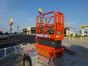 2017 Ballymore Electric Scissor Aerial Man Boom Lift 13ft Height 4 Hours