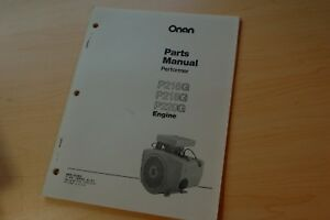 Onan P216g P218g P220g Diesel Engine Parts Manual Gehl Skid Steer Loader Book
