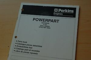 Perkins 4 154 Diesel Engine Parts Manual Book Catalog Gehl Skid Steer Loader