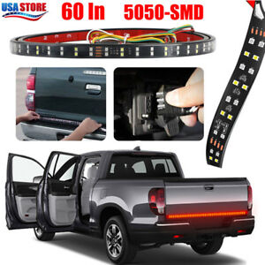 60 Double Led Truck Tailgate Light Bar Brake Reverse Turn Signal Stop Tail Strip