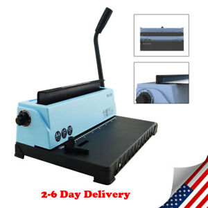 Usa 34 hole Punching Binding Machine All Steel Metal Spiral Coil Binder Puncher