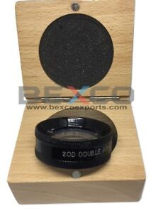 Aspheric Lens black 20 D In Wooden Case Top Quality By Brand Bexco Free Ship