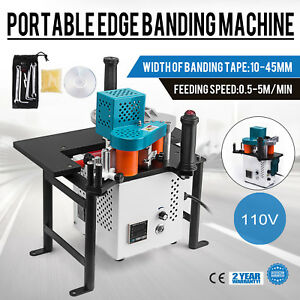 Woodworking Portable Edge Banding Machine Straight 15w Motor 16 40mm Width