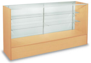 Full Vision Display 4 Showcase Retail Store Fixture Ships Knockdown Maple New