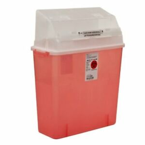 Multi purpose Sharps Container 3 Gallon Translucent Red Base Case Of 12