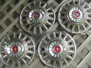 1968 68 Ford Mustang Hubcaps Wheelcovers Center Caps Antique Vintage Classic