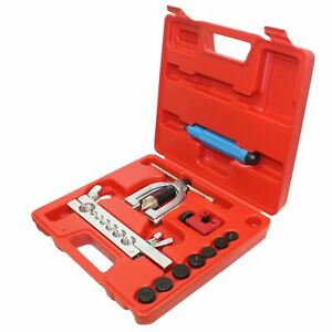 Sae Mm Double Single Flaring Brake Line Tool Kit W Mini Pipe Cutter Car Truck