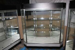 62 5 X 22 X 59 Jewelry Showcase Retail Display Case 3 Shelves Led Lighting
