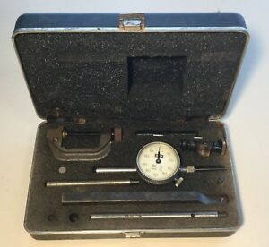 Vintage Lufkin 399 Universal Dial Test Indicator Set In Case