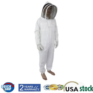 Canvas Protect Beekeeping Suit Xl With Fencing Veil White With Gloves Xl