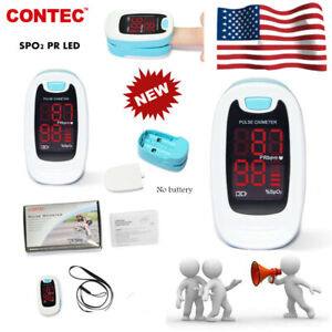 Led Pulse Oximeter Finger Spo2 Pulse Rate Oxygen Saturation Pouch lanyard usa