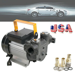 Us Ups 60l min 550w Self Priming Electric Oil Diesel Fuel Transfer Pump 3 Clamps